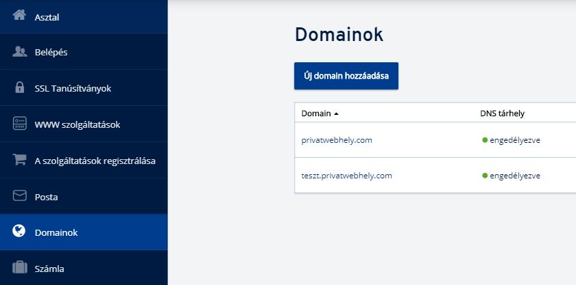 Hogyan delegálhat egy domaint az ionos.hu-ról más DNS-kiszolgálókra?