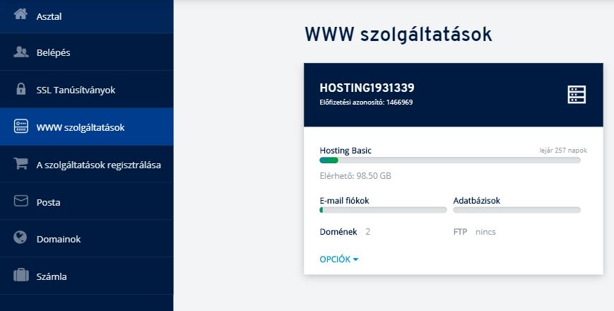 Hogyan lehet egy domaint hozzárendelni a kiszolgálóhoz az ügyfélpanelen?