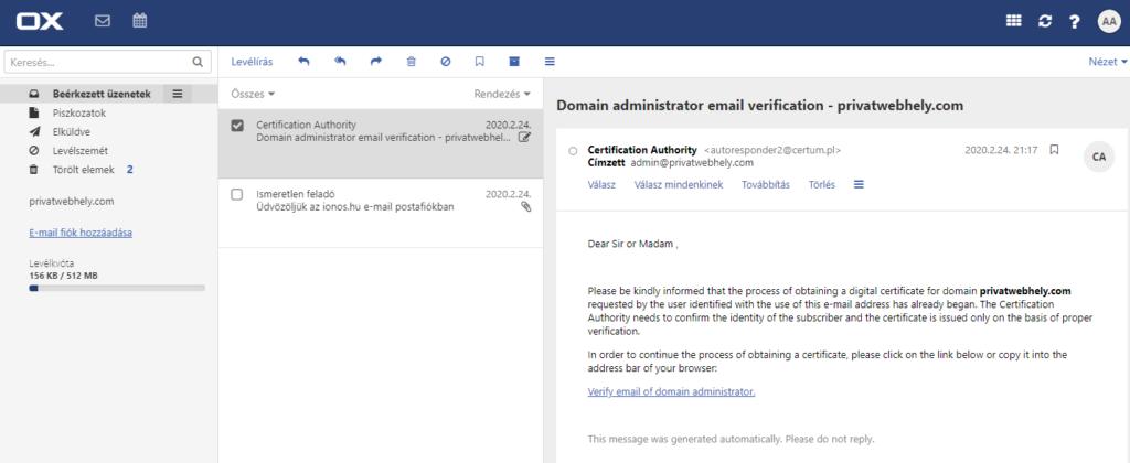 Mi az az ionos.hu Posta (úgynevezett webmail)?