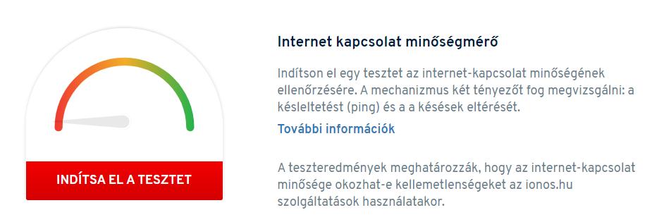 Internet kapcsolat minőségmérő