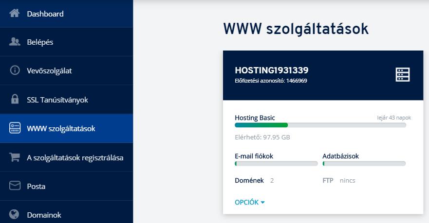 Hogyan telepítse fel az SSL tanúsítványát a ionos.hu-en keresztül igényelt hostingra?