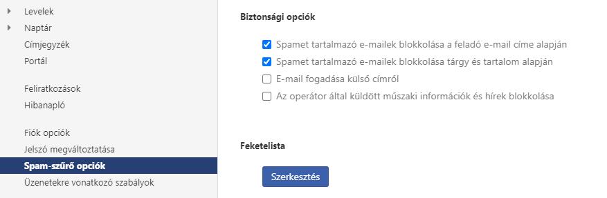 Hogyan változtathatom meg a spam védelem beállításait?